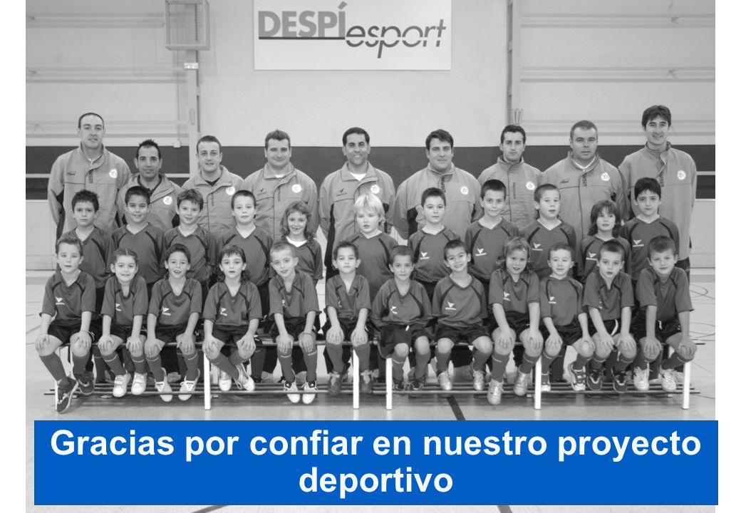 Gracias por confiar en nuestro proyecto deportivo