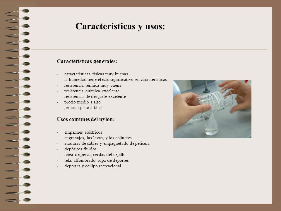 Características y usos: