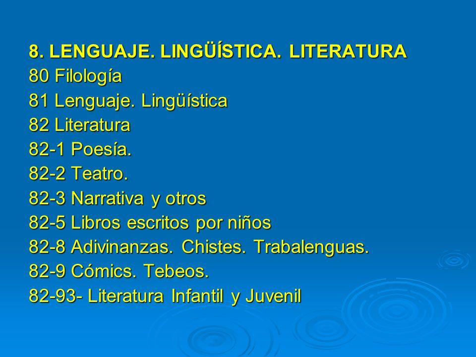 8. LENGUAJE. LINGÜÍSTICA. LITERATURA