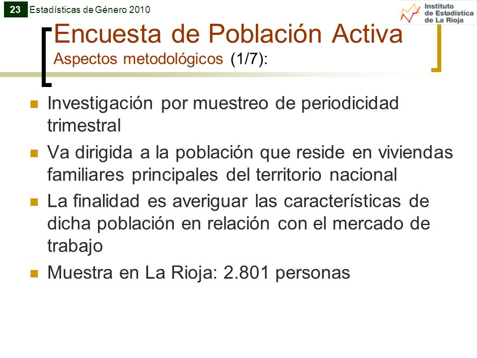 Encuesta de Población Activa Aspectos metodológicos (1/7):