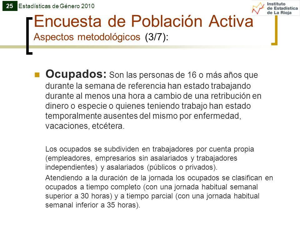 Encuesta de Población Activa Aspectos metodológicos (3/7):