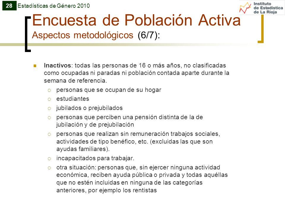 Encuesta de Población Activa Aspectos metodológicos (6/7):