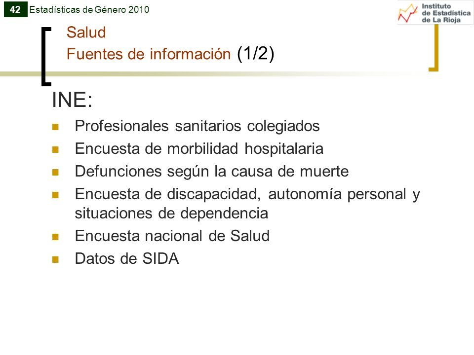 Salud Fuentes de información (1/2)