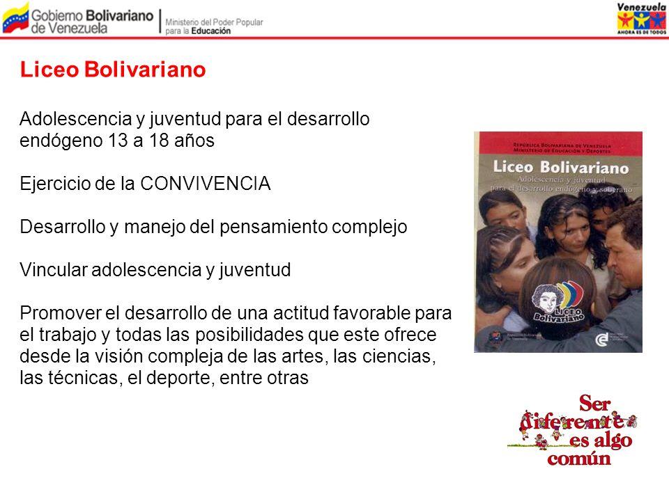 Liceo Bolivariano Adolescencia y juventud para el desarrollo