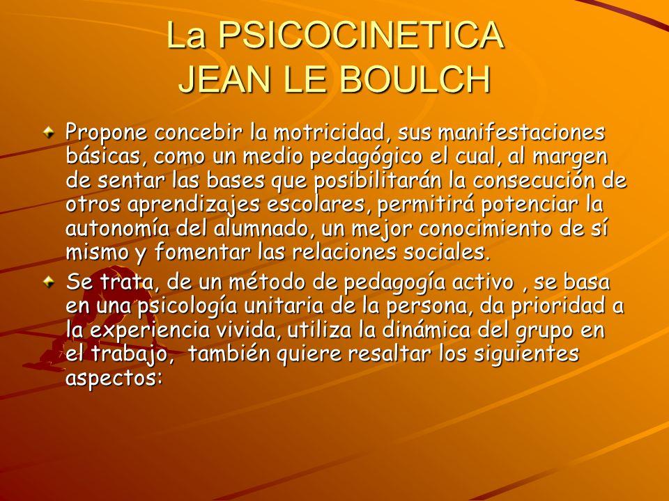 La PSICOCINETICA JEAN LE BOULCH