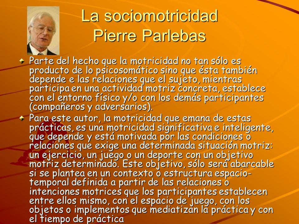 La sociomotricidad Pierre Parlebas