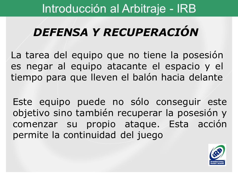 DEFENSA Y RECUPERACIÓN
