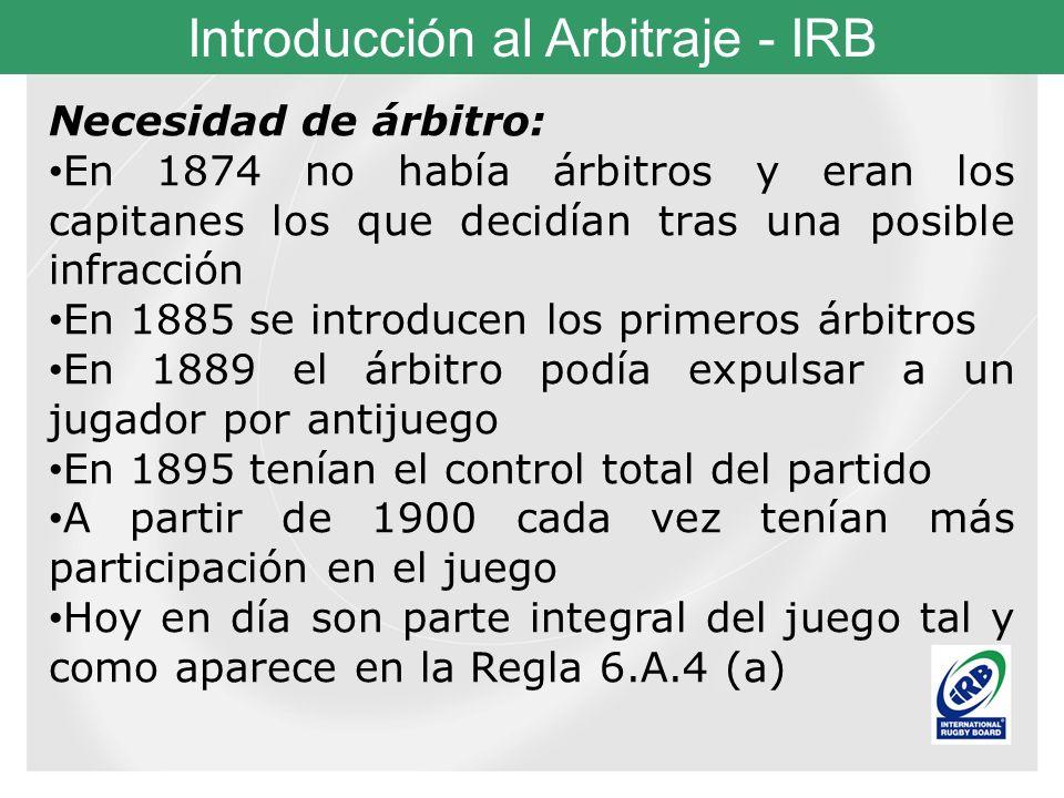 Necesidad de árbitro: En 1874 no había árbitros y eran los capitanes los que decidían tras una posible infracción.