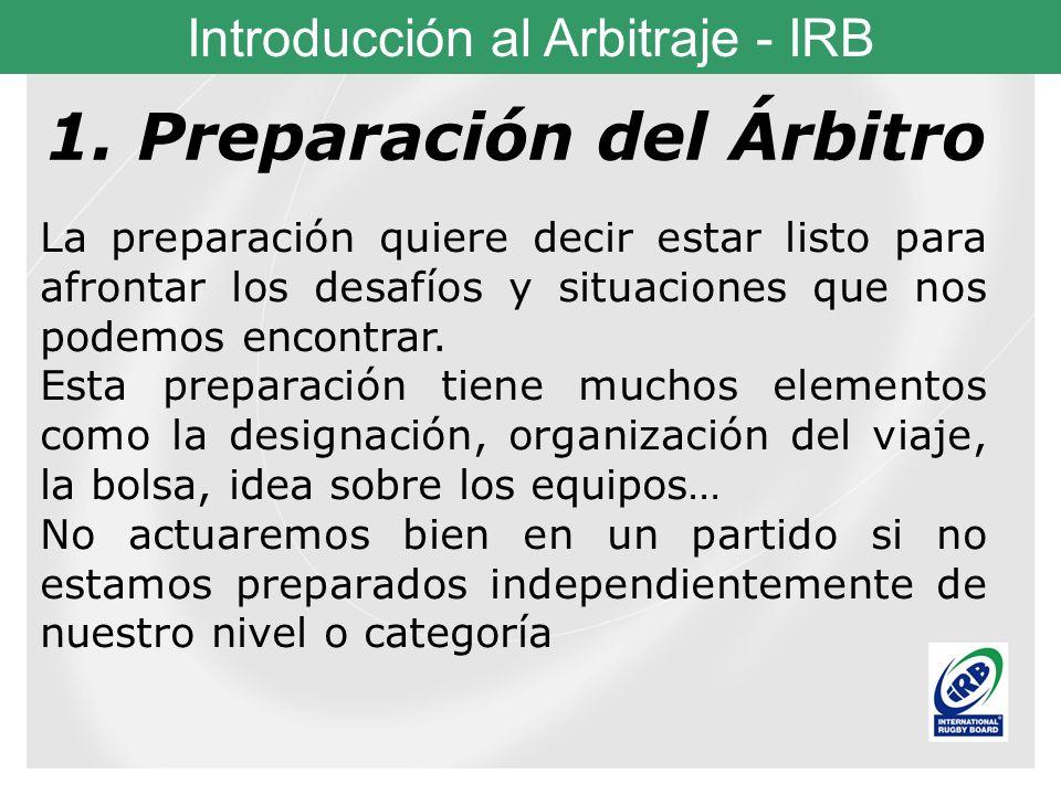 1. Preparación del Árbitro