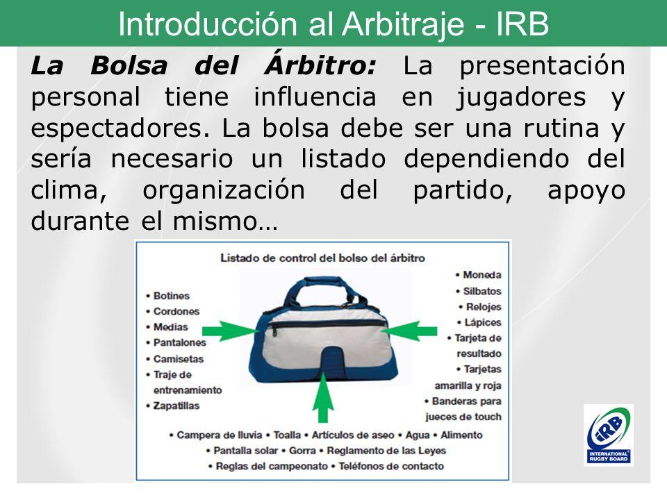 La Bolsa del Árbitro: La presentación personal tiene influencia en jugadores y espectadores.