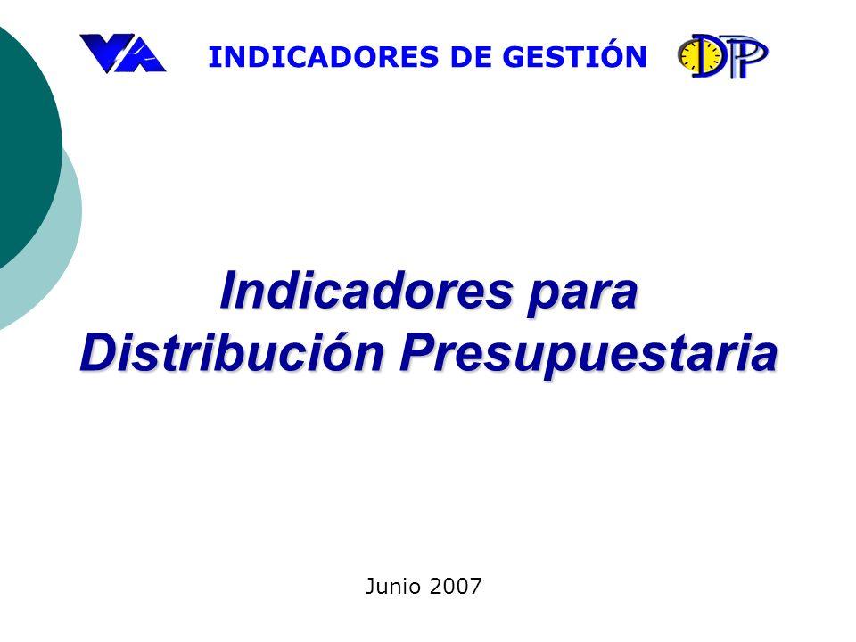 Indicadores para Distribución Presupuestaria