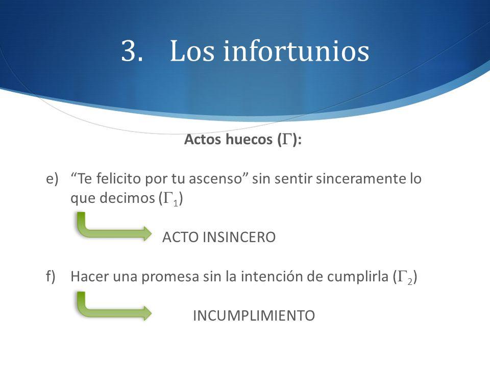 Los infortunios Actos huecos (G):