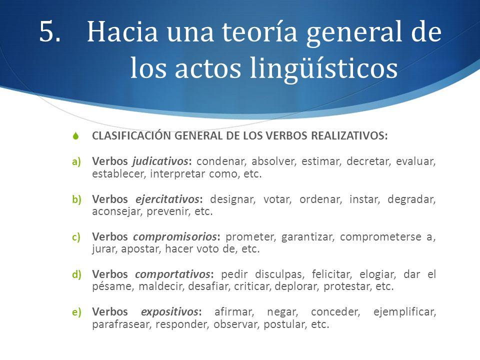Hacia una teoría general de los actos lingüísticos