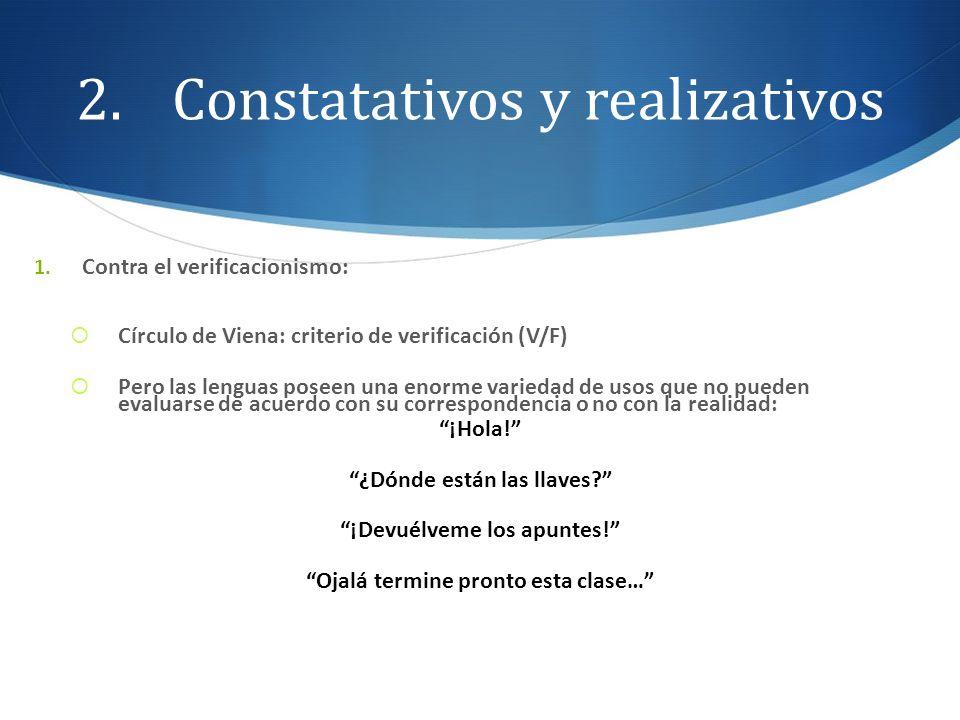 Constatativos y realizativos