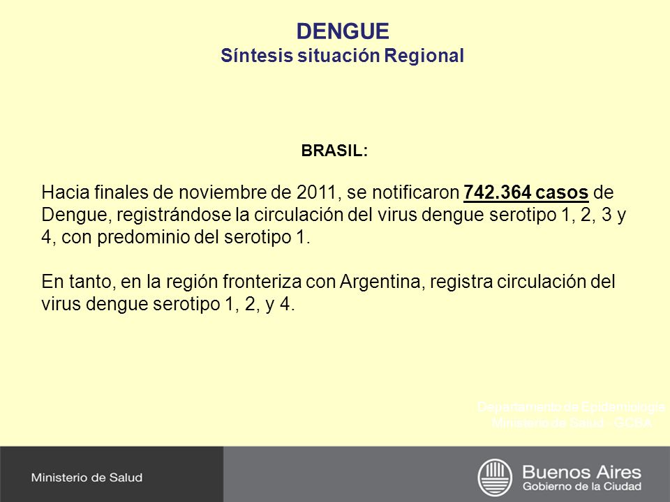 Síntesis situación Regional