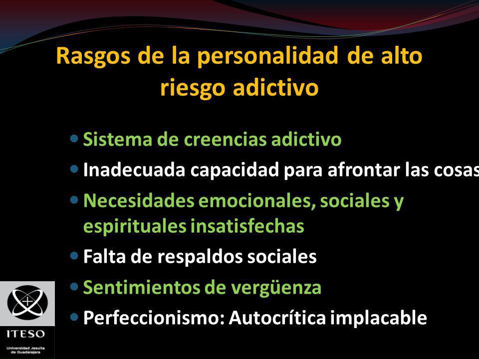 Rasgos de la personalidad de alto riesgo adictivo