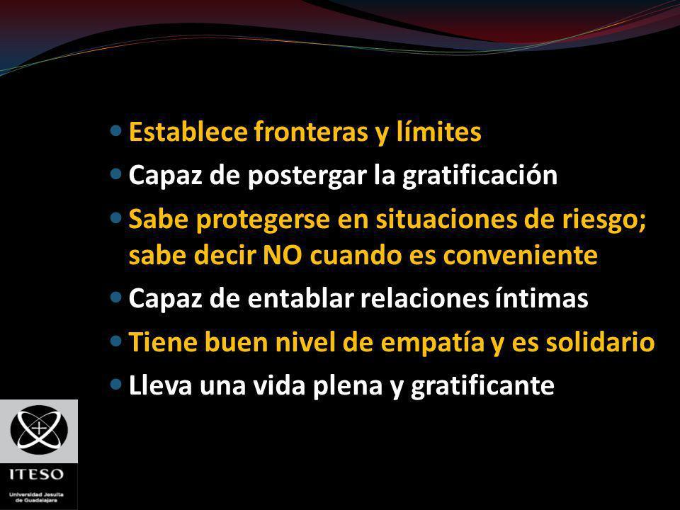Establece fronteras y límites