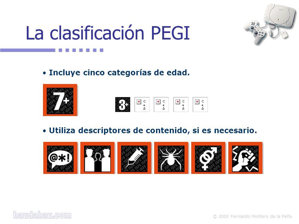 La clasificación PEGI Incluye cinco categorías de edad.