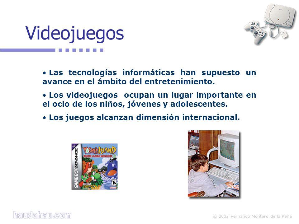 Videojuegos Las tecnologías informáticas han supuesto un avance en el ámbito del entretenimiento.