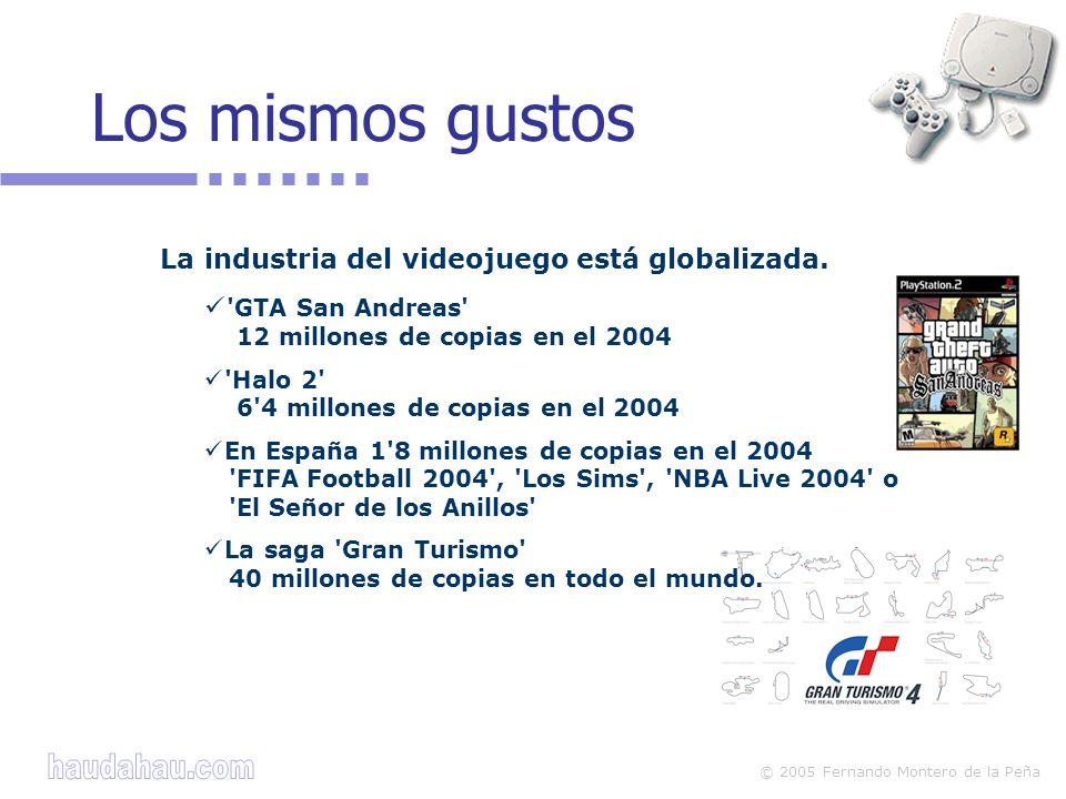 Los mismos gustos La industria del videojuego está globalizada.