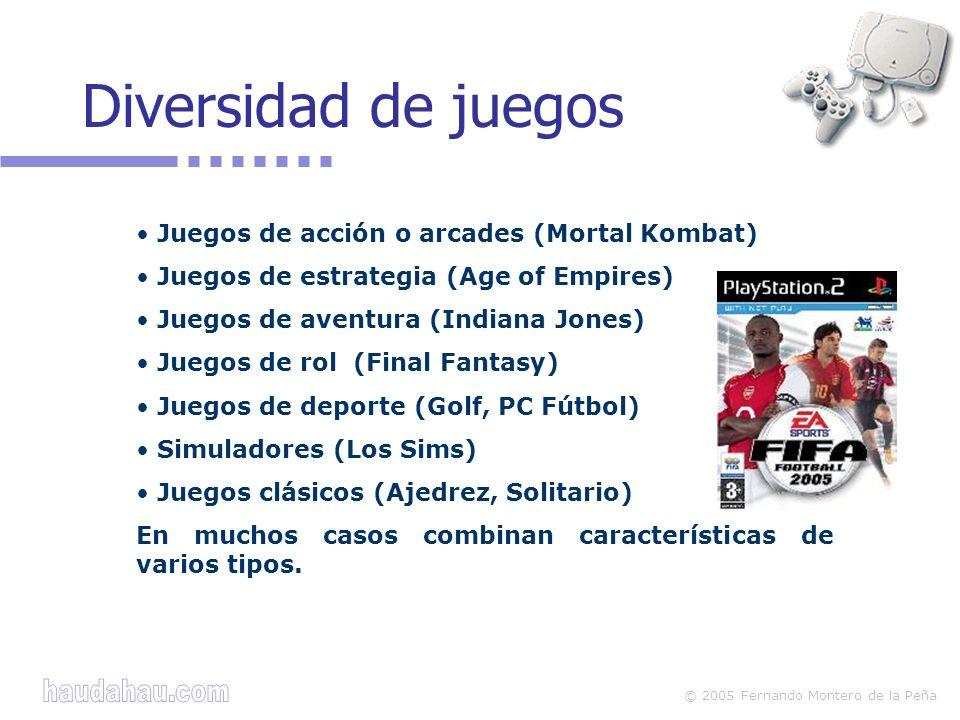 Diversidad de juegos Juegos de acción o arcades (Mortal Kombat)