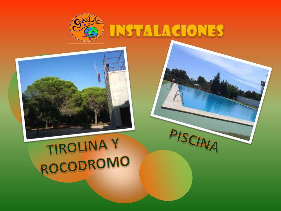 INSTALACIONES PISCINA TIROLINA Y ROCODROMO