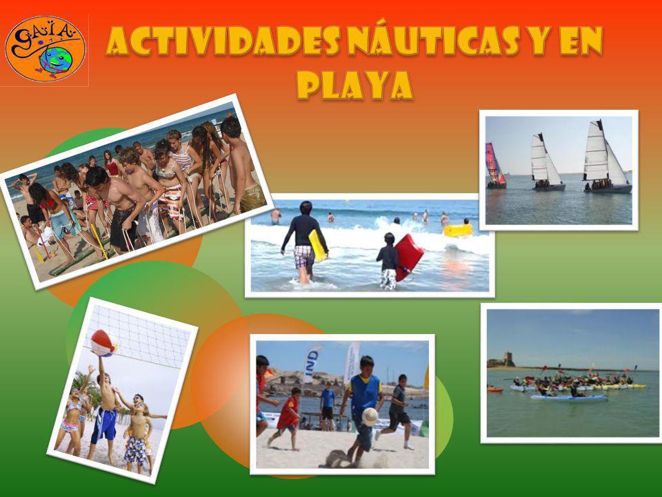ACTIVIDADES NÁUTICAS Y EN PLAYA