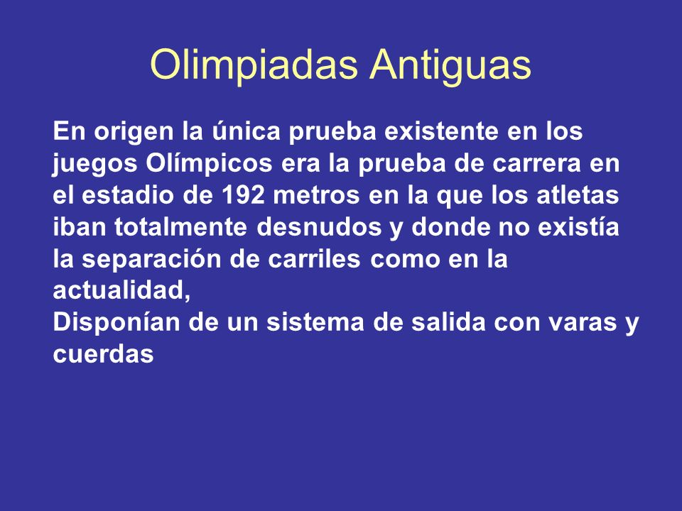 Olimpiadas Antiguas