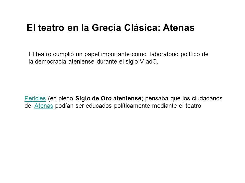 El teatro en la Grecia Clásica: Atenas
