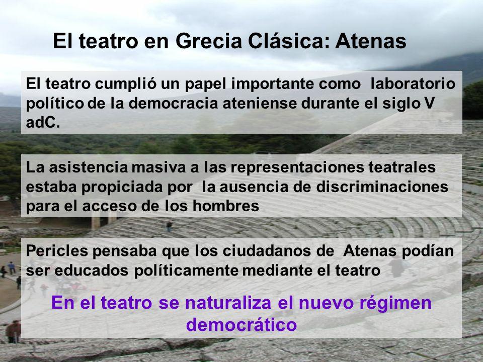 En el teatro se naturaliza el nuevo régimen democrático