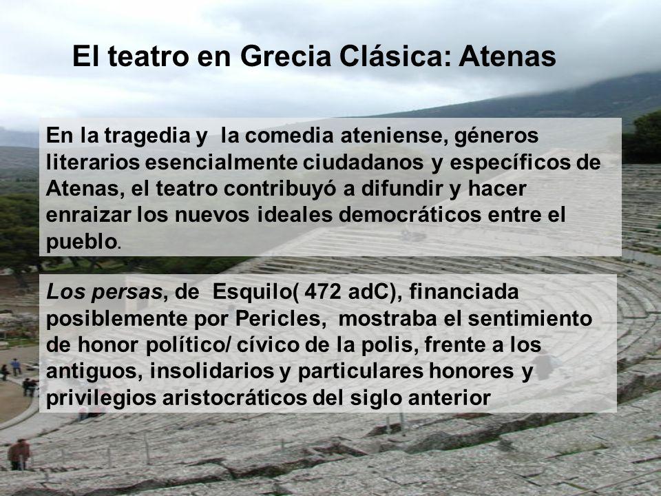 El teatro en Grecia Clásica: Atenas