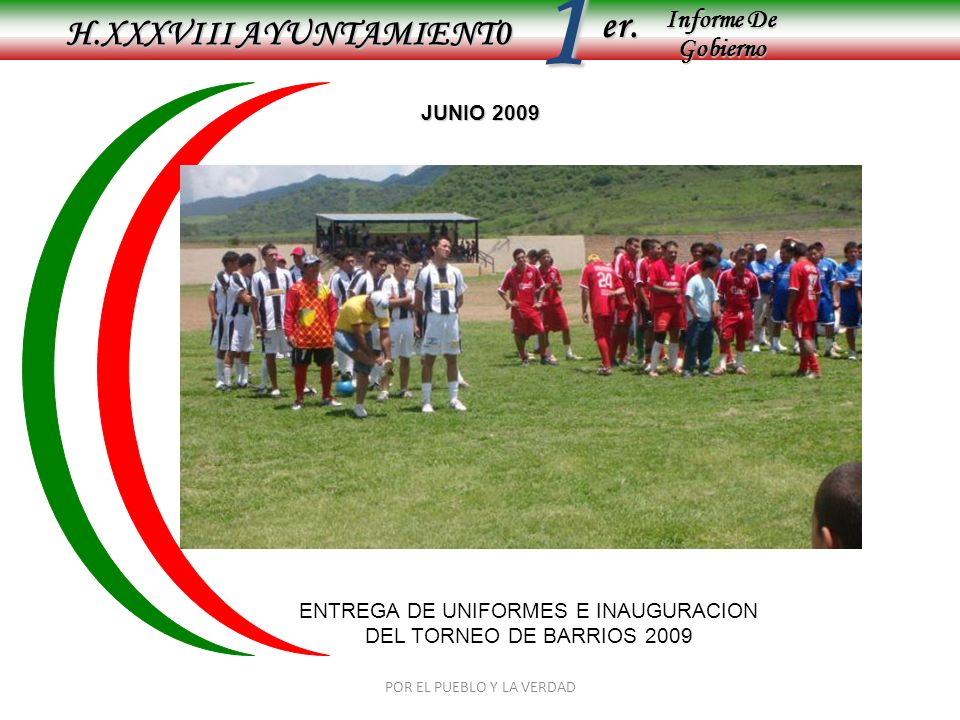1 er. H.XXXVIII AYUNTAMIENT0 Informe De Gobierno JUNIO 2009