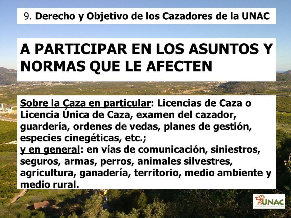 9. Derecho y Objetivo de los Cazadores de la UNAC