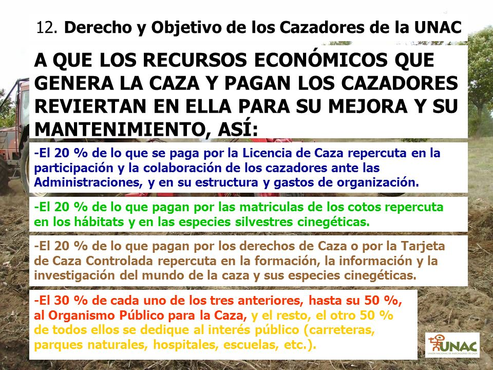 12. Derecho y Objetivo de los Cazadores de la UNAC
