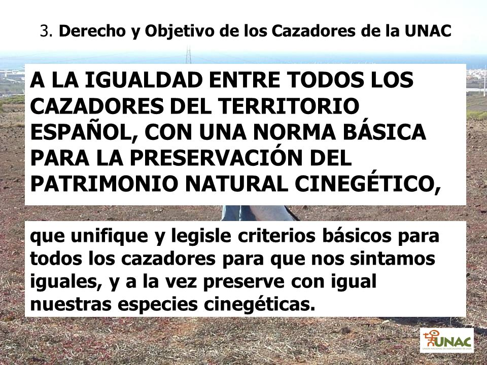 3. Derecho y Objetivo de los Cazadores de la UNAC