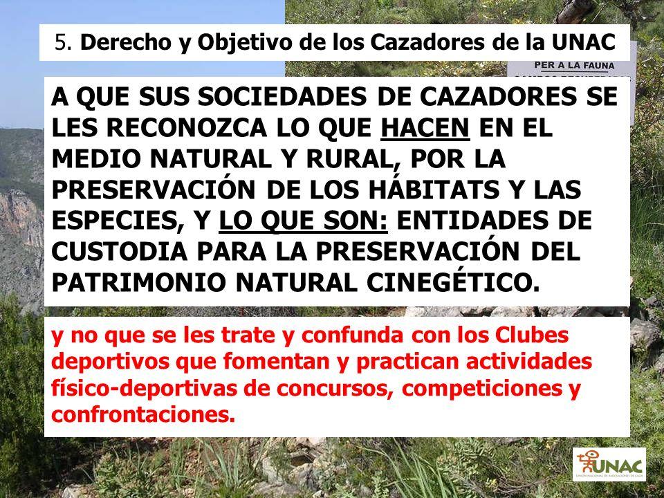 5. Derecho y Objetivo de los Cazadores de la UNAC