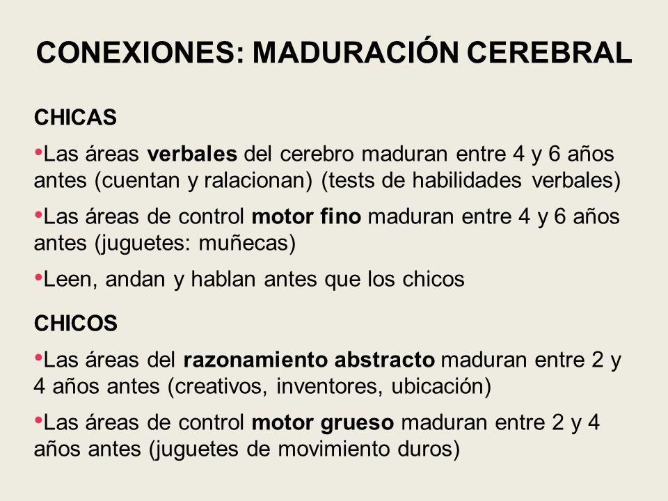CONEXIONES: MADURACIÓN CEREBRAL