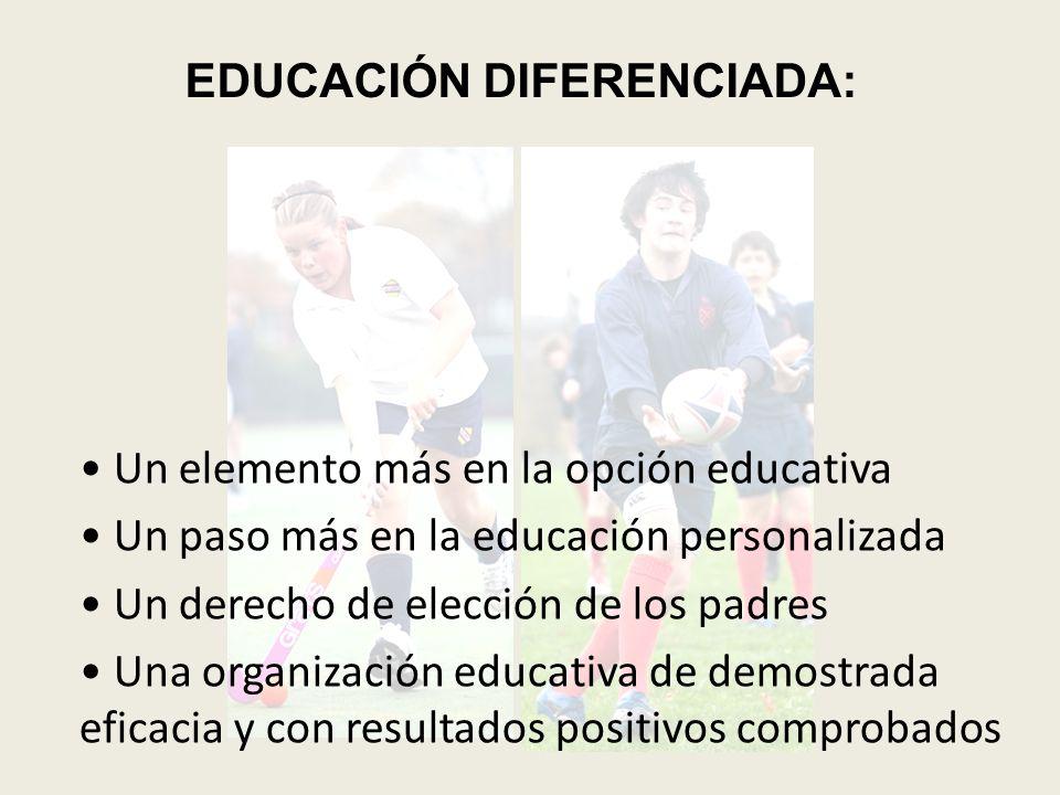 EDUCACIÓN DIFERENCIADA: