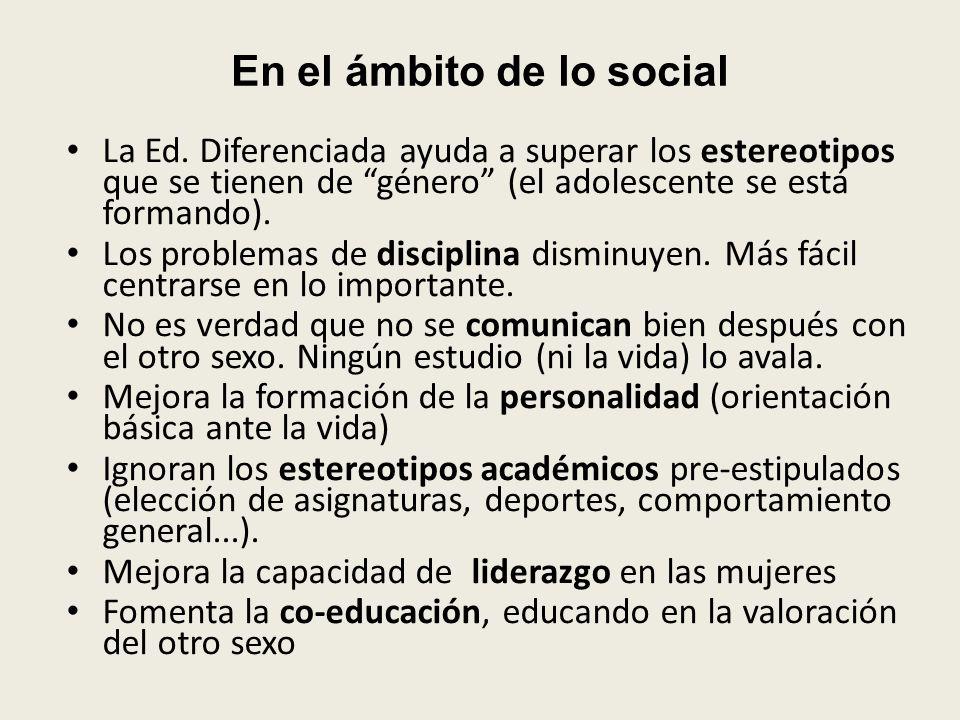 En el ámbito de lo social
