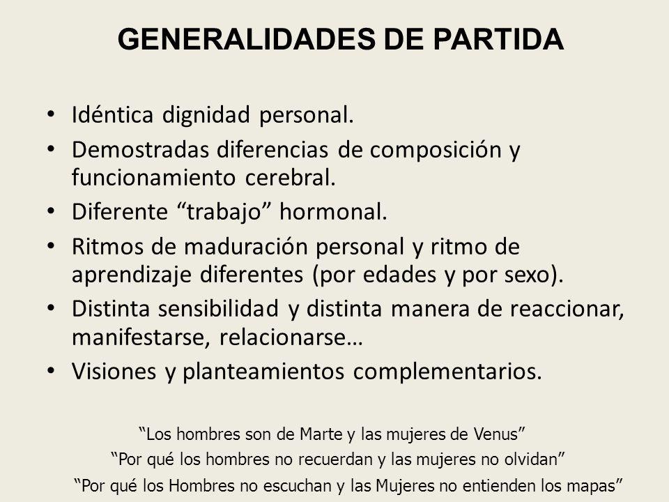 GENERALIDADES DE PARTIDA