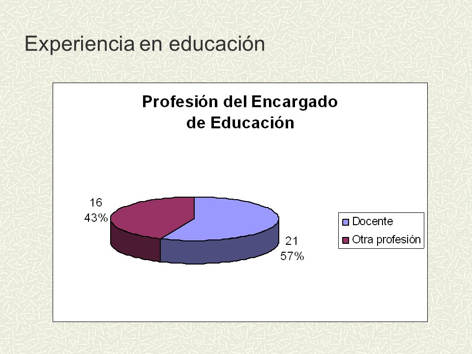 Experiencia en educación