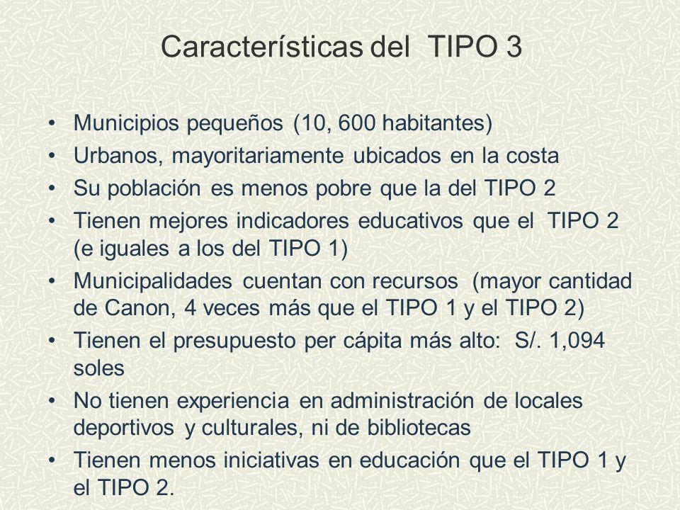 Características del TIPO 3