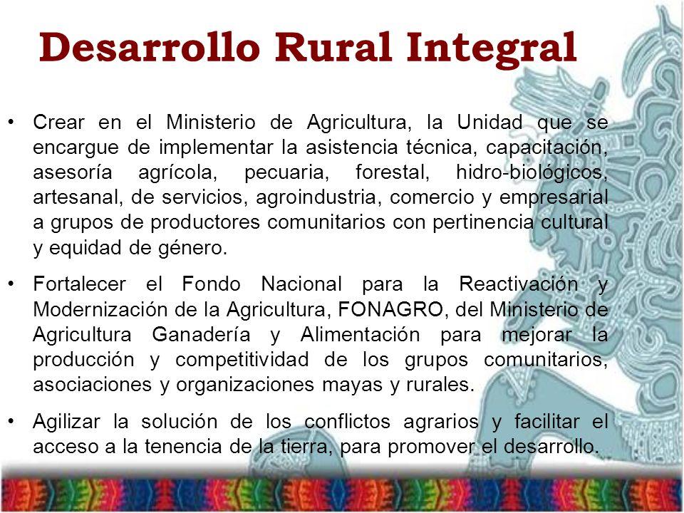 Desarrollo Rural Integral