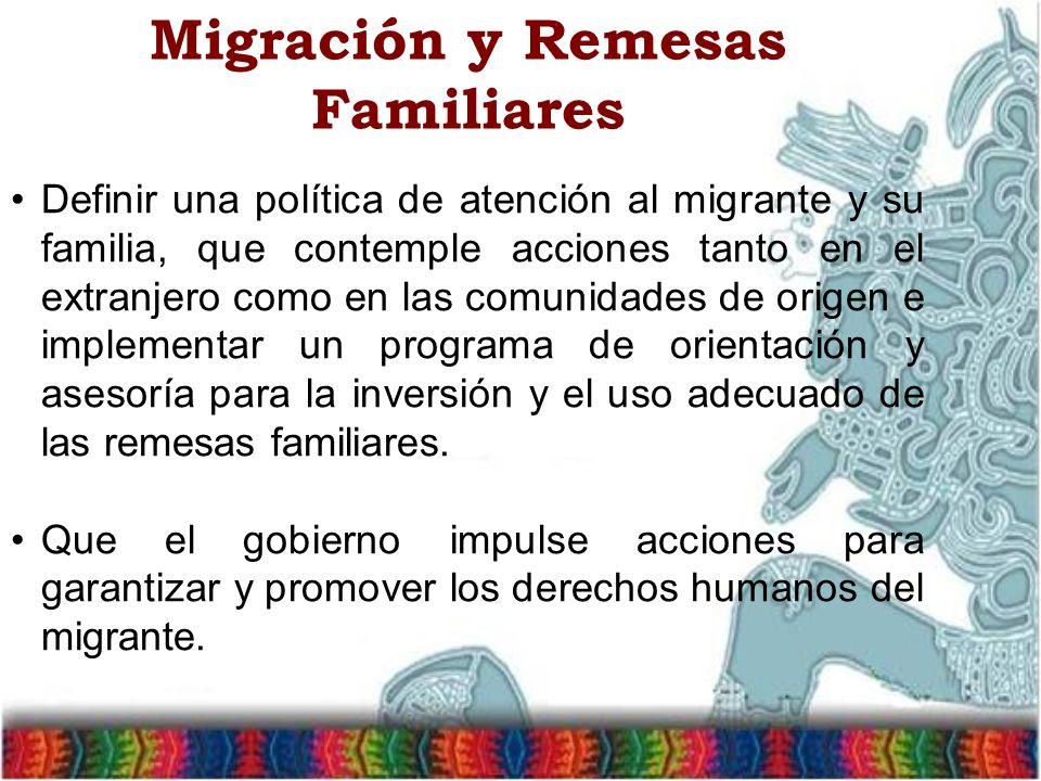 Migración y Remesas Familiares