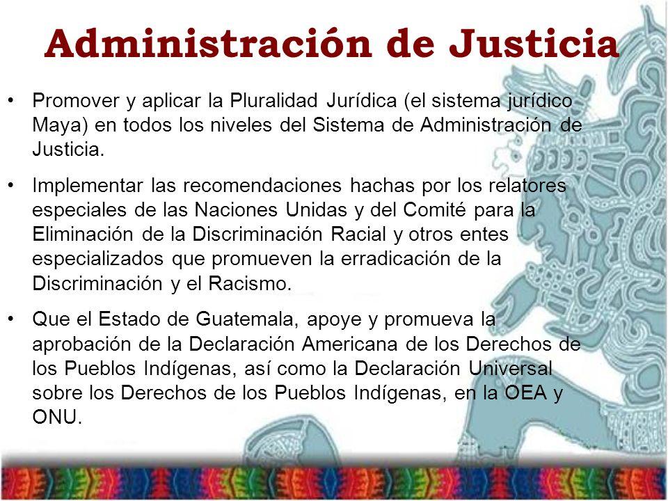 Administración de Justicia