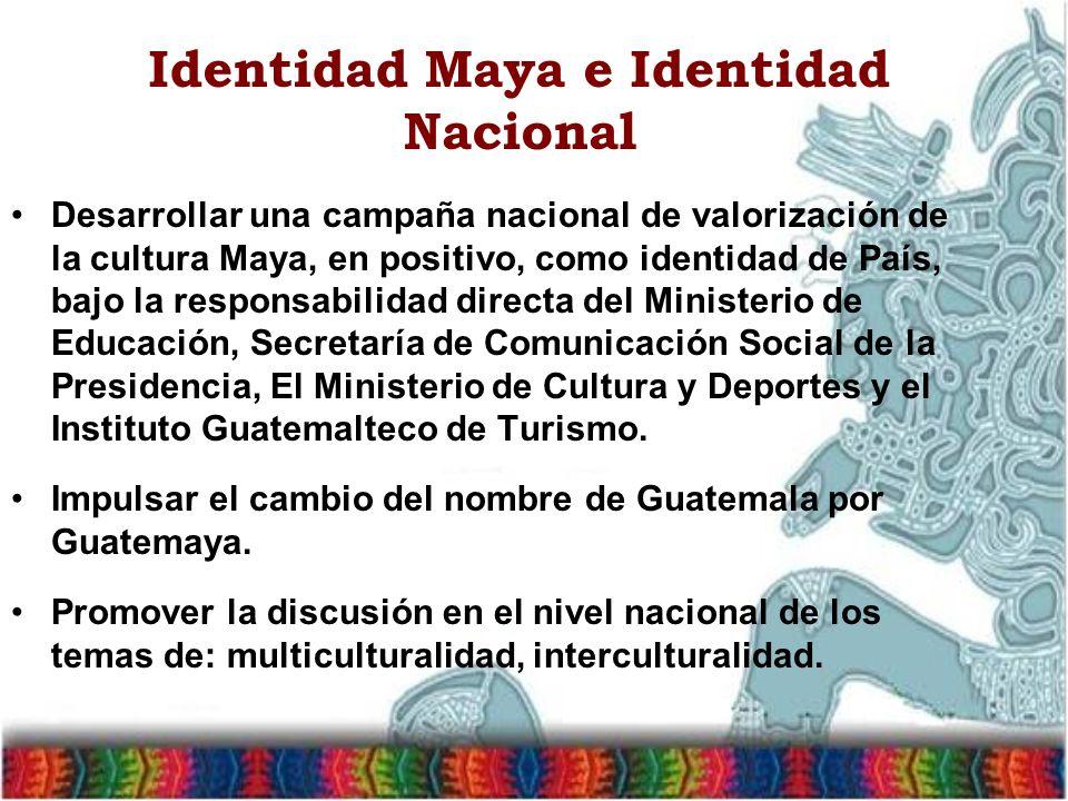 Identidad Maya e Identidad Nacional
