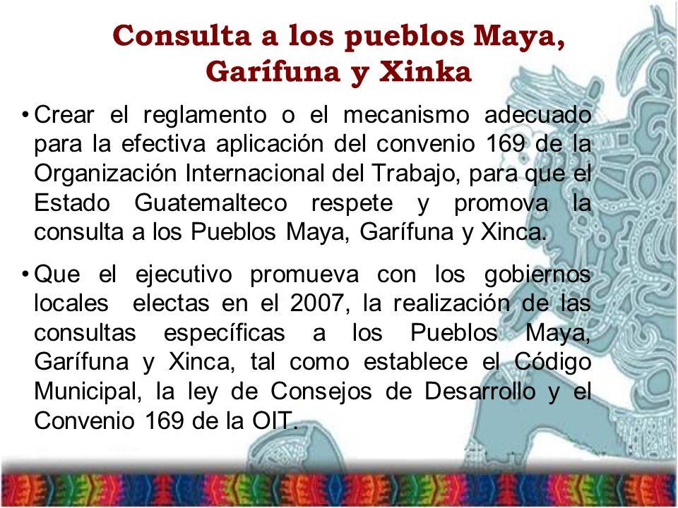 Consulta a los pueblos Maya, Garífuna y Xinka
