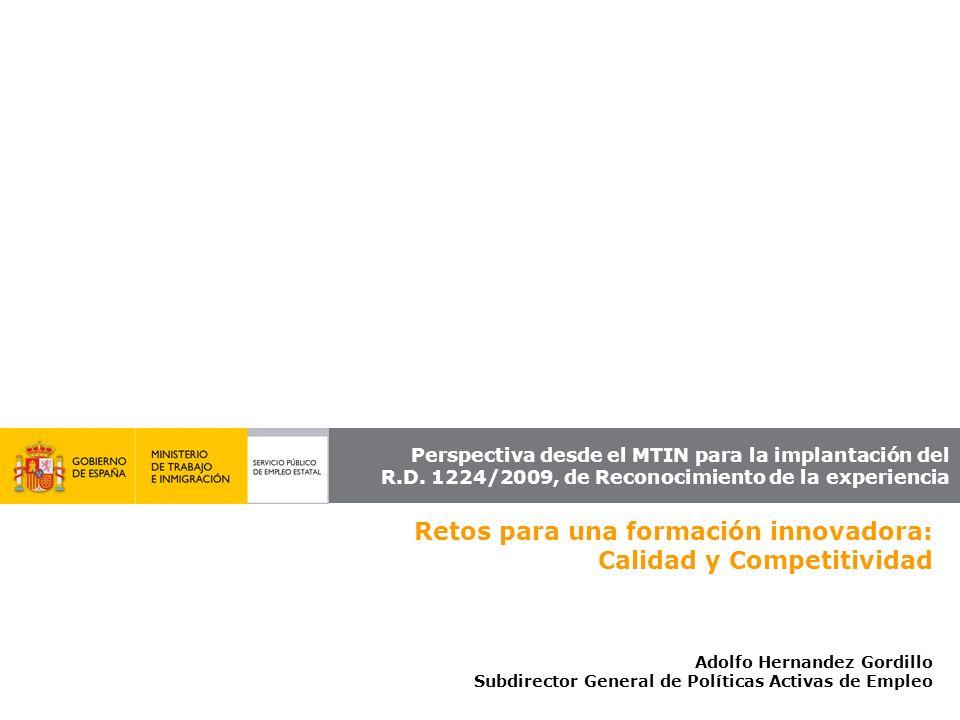 Retos para una formación innovadora: Calidad y Competitividad