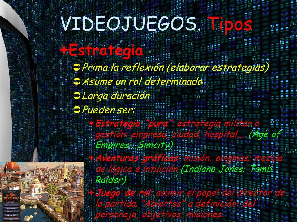 VIDEOJUEGOS. Tipos Estrategia