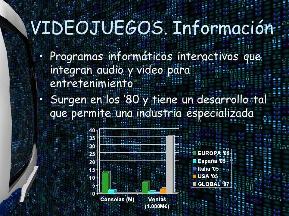 VIDEOJUEGOS. Información